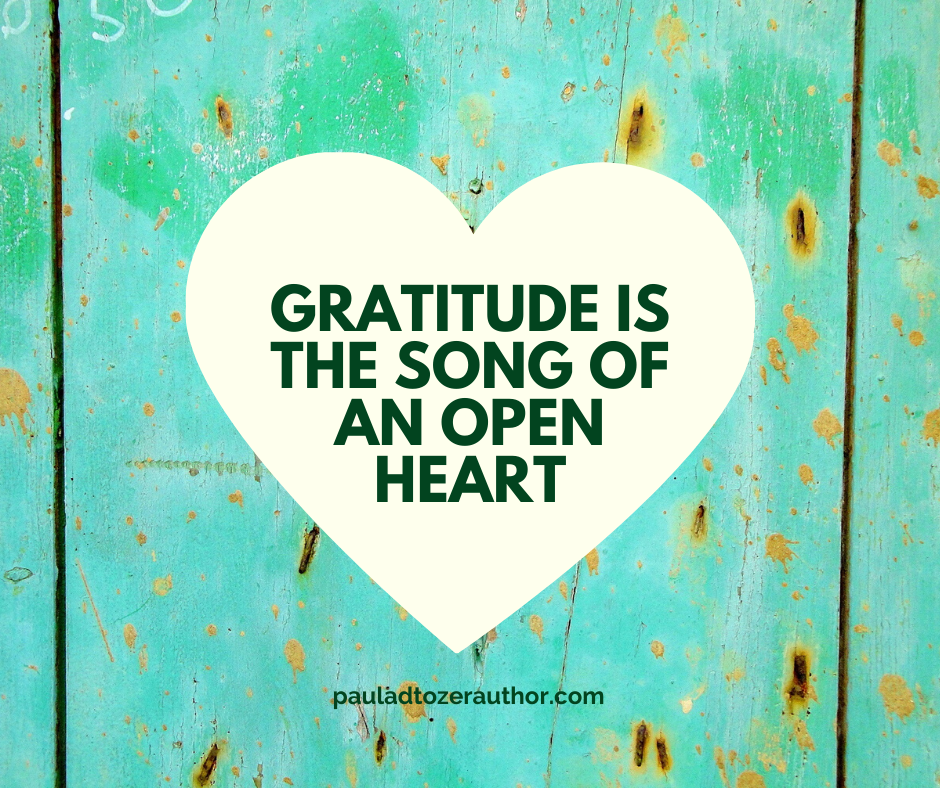 Gratitude is the song